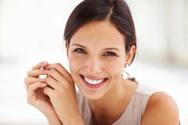 Teeth whitening woman smiling