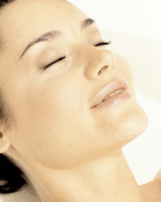 Woman peacefully sedated